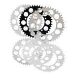 BRITISH CUSTOMS Retro Style Rear Sprocket. 43T Black or Polished Alloy.